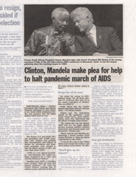 Newspapers STL Mandela Clinton